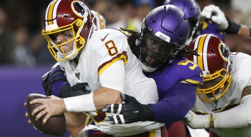 Tragic sack Redskins look awful again in prime time, this time in damages to Vikings