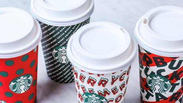 Holiday cups, drinks now available at Starbucks