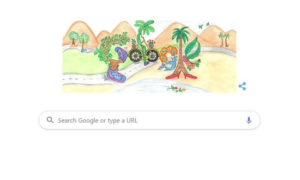 By Seven-Year- Old  'Walking Tree' Doodle , Used By  Google To Celebrates Children's Day 2019