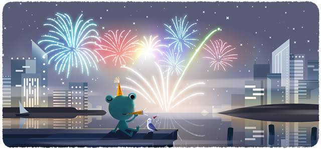 New Year's Eve 2019 of Google's- Doodle highlights well-known frog