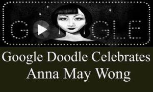 Google Doodle Celebrating Anna May Wong