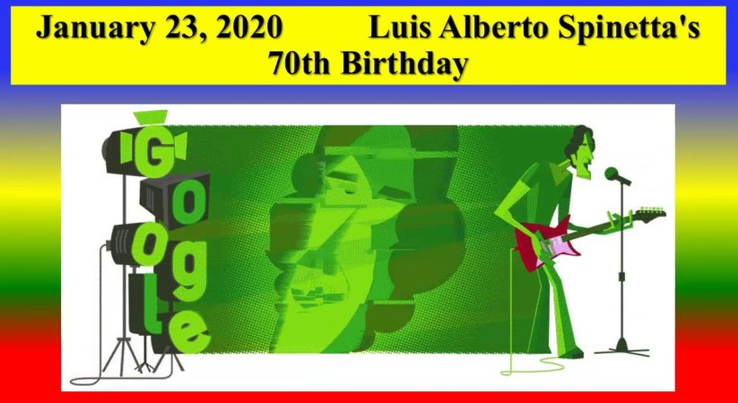 Google Doodle Celebrates Luis Alberto Spinetta's 70th Birthday