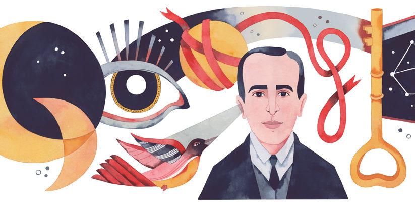 Google Doodle Celebrates Chilean Poet Vicente Huidobro's 127th Birthday