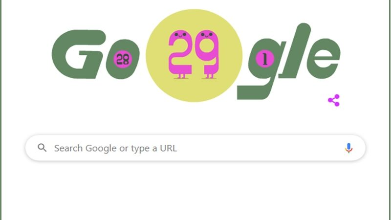 Google Doodle Celebrates Leap Day 2020