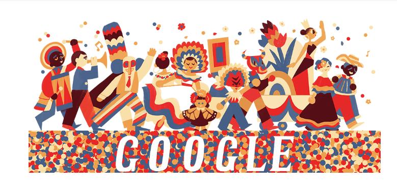 Today's Google Doodle : Shows Carnaval de Barranquilla