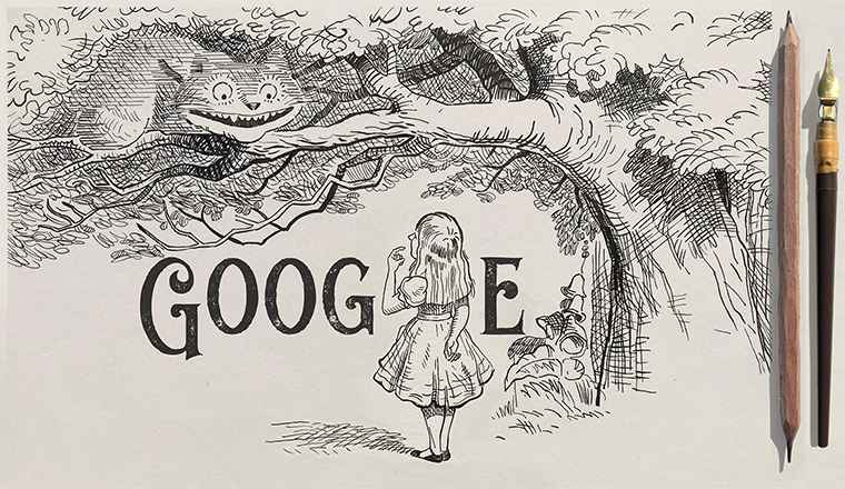 Google Doodle Celebrates Sir John Tenniel's 200th Birthday