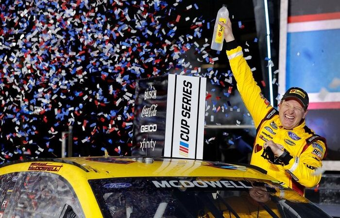 Michael McDowell first of his NASCAR career wins the 63rd annual Daytona 500