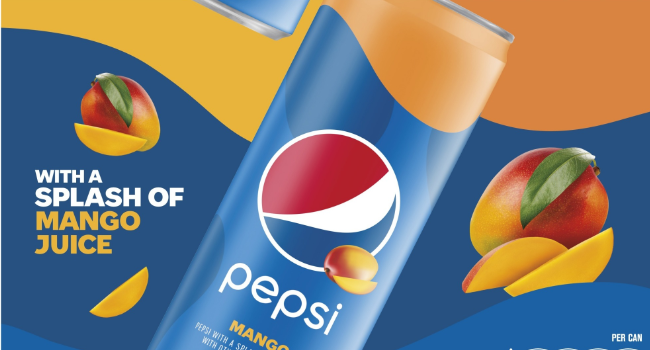 Pepsi will launches Mango soda, as company's first flavored cola in five years