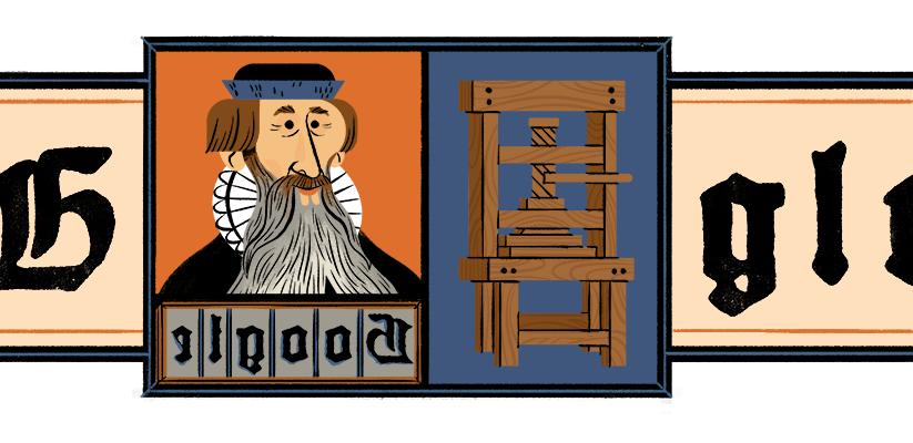 Johannes Gutenberg: Google doodle honors inventor of the mechanical movable type printing press, German craftsman