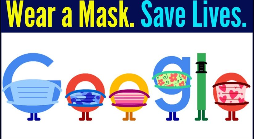 Google doodle says to people for COVID-19 prevention 'wear masks and save lives'