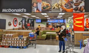 McDonald's will close many eateries inside Walmart stores