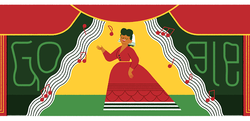 Google doodle celebrates 175th birthday of Mexican pianist and harpist 'Ángela Peralta'