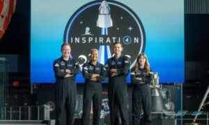 SpaceX launches four private citizens to space in company's first-ever crewed mission