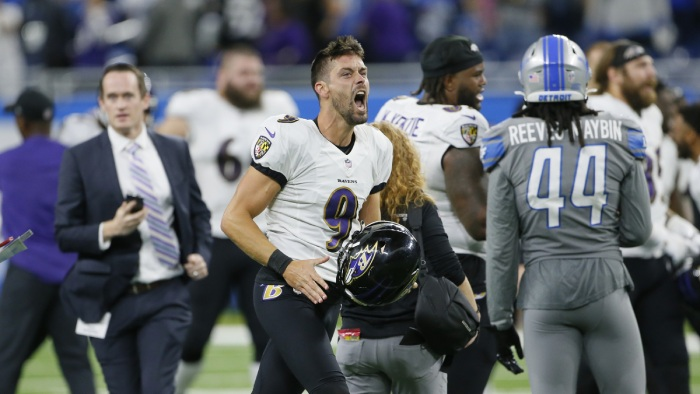 Ravens' Justin Tucker wins game against Detroit Lions on record 66-yard FG